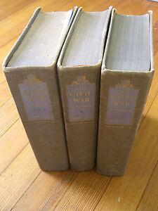 THE CIVIL WAR, A Narrative. S. Foote, 3 Vol.(1st Ed 9th, 4th & 2nd Prt) 1958-74