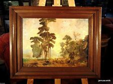 Künstlerische Malerei Holz-Tier-Öl