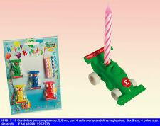 blister candele candeline compleanno festa party con auto portacandela