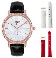 NEW JACY ¨The Ace¨ Ladies Diamond Quartz Rose Gold Plated Watch - JW-1001-1601R