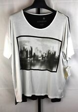 NWT  Kensie Pieces City Scene Short Sleeve Top Plus Size XL