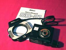 Nikon SB-21 Makro Blitzgerät mit Anleitung