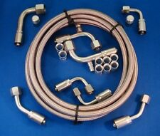 Gotta Show Braided Stainless Steel Air Conditioning A/C Hose Kit 90 Degree Lokar
