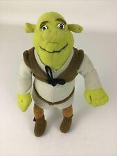 "Shrek Plush Stuffed Doll Toy Green Ogre 9"" DreamWorks Fiona Donkey Nanco 2004"