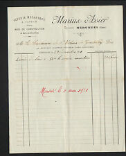 """NERONDES (18) SCIERIE / BOIS de CONSTRUCTION & CHAUFFAGE """"Marius ASSIER"""" en 1920"""