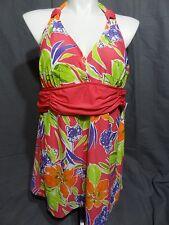 Lane Bryant wire free lined one piece swimwear dress size 20