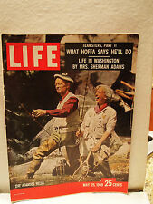Life mag May 25 1959 SHERMAN ADAMS FISHING Jimmy Hoffa