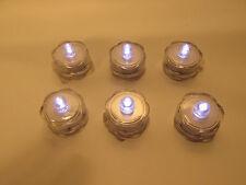 LED Flameless battery tea lights LOT of 6 with White bulbs