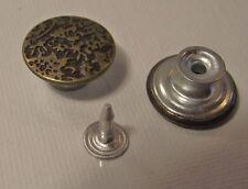 LOT 3  BOUTONS * 17 mm Spécial Jean * mercerie * button * à fixer easy 1,7 cm