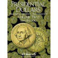 H E HARRIS #2278 Coin Folder Presidential Dollar Folder Vol. II - Starting 2012