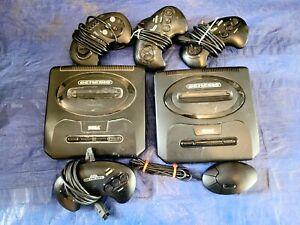 *LOT* Sega Genesis Model 2 Consoles Controllers MK-1631 Authentic UNTESTED *Used