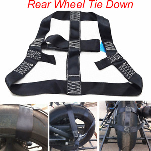 Motorbike Motorcycle Rear Wheel Handlebar Transport Tie Down Strong Strap Holder