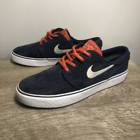 Youth NIKE SB STEFAN JANOSKI Navy W/Red Laces Skateboard Shoes Size 6 525104-416