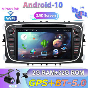 Android 10.0 GPS Autoradio For Ford Mondeo Focus S/C-Max Galaxy DVD/CD DAB+ OBD
