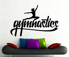 Gymnastics Wall Decal Fitness Gym Vinyl Sticker Home Art Decoration Mural (1gy)