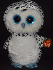 "TY BEANIE BOOS - LUCY the 16"" SNOW OWL - MINT TAG - JUSTICE EXCL PLEASE READ #2"