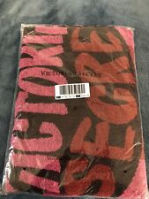 Victoria's Secret Cozy Valentines Throw Blanket Pink & Red Lips New