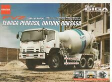 Isuzu Giga FVZ 34 MX Mixer truck (made in Indonesia) _2018 Prospekt / Brochure