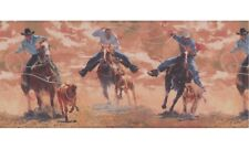 Western Cowboy Roping & Riding Wallpaper Border IN2648B