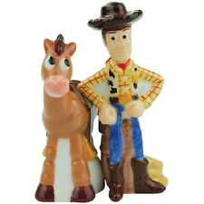 Disney's Toy Story Woody and Bullseye Ceramic Salt and Pepper Shakers Set SEALED