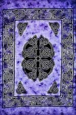 """Tapestry """"Celtic Knots"""" Purple 69 x 108 - FREE SHIPPING"""