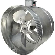 Suncourt Inductor Inline Duct Fan 10 in. 2-Speed with Electrical Box Air Booster