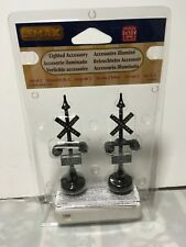 Lemax Railway Stop Light Set of 2 Lighted Accessory 34954