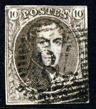 Belgique 1851 Roi Léopold 10 C. Brown Imperforé WMK sans cadre SG 6 VFU