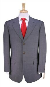 NWD New Paul Stuart Gray Thin Striped 3-Btn Luxury Wool Suit 38R