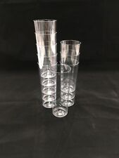 100 X Tall Plastic Cups Hi Ball Tumblers Glasses