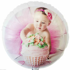 """18"""" Personalised Photo Girl's Children's Birthday Party Printed Foil Balloon"""
