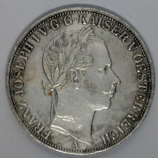 More details for large silver coin - one verereinsthaler austria [hapsburg] 1858 - pick km#2244