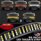 60 Triple Led Tailgate Light Bar Flash Strobe Brake Stop Sequential Turn Signal