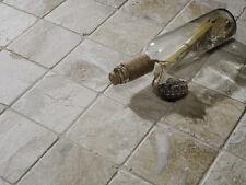 Sample of vanilla cream tumbled marble tiles - 10 x 10cm