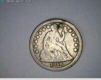 1856 Dime Seated Liberty ( 4-336 12m/o )