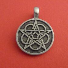 Sacred Geometry Five Circles Pentagram Pewter Pendant. Pagan/Wiccan.