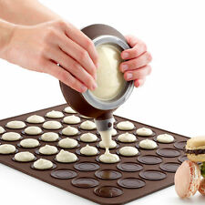 Silicone Macaron Biscuit Cookies Baking Mould Mat Tray Sheet Decorating Tools
