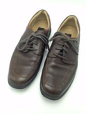 Men Brown J&M Johnston & Murphy Leather Oxfords Solid Casual Shoes Size 9.5 M