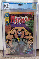 Batman #497 CGC 9.2 Newsstand edition - Bane breaks Batman's back WHITE Pages