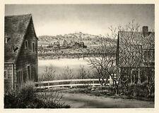 ALAN CRANE, 'NOVEMBER', signed lithograph, c. 1940.