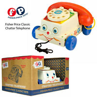 Fisher Price Kids Chatter Telephone Pretend Pull Along Yesterdays Classic Toys