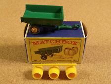 OLD VINTAGE LESNEY MATCHBOX # 51 JOHN DEERE TRAILER ORIGINAL BOX GPW