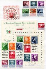 UNGARN 1934-1948 gestempelte SAMMLUNG BLOCKS und KLEINBOGEN(67205c