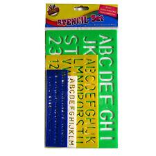 Artbox Stencil Set grandes letras números superior Minúsculas Alfabeto Niños 4 Tamaños