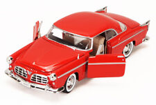 1955 CHRYSLER C300 1/24 SCALE RED DIECAST CAR BY MOTOR MAX 73302ACR