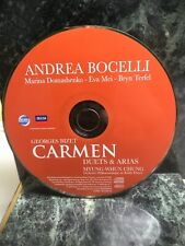 """MUSIC CD:  ANDREA BOCELLI """"CARMEN"""", CD ONLY, NO INSERT OR CASE (aa)"""