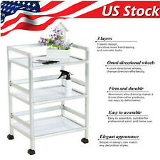 Rolling Trolley Cart 3 Tiers Hair Beauty Salon Spa Storage Equipment Organizer