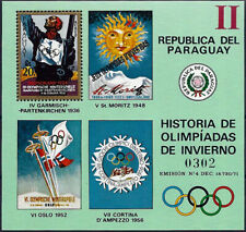 "1972 ""Paraguay"" History of the Olympic Games, Garmisch, Sheet VF/MNH! CAT 23$"
