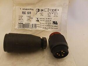 """Lumberg Rsc 50/9 5-Pole 7/8 """" Droit Mâle Capteur Connecteur Prise RSC-50-9"""