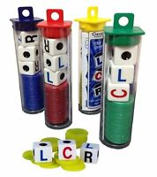 The Original LCR Left Center Right Dice Game Tube-Random Color